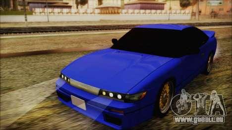 Nissan Silvia Sil80 für GTA San Andreas zurück linke Ansicht