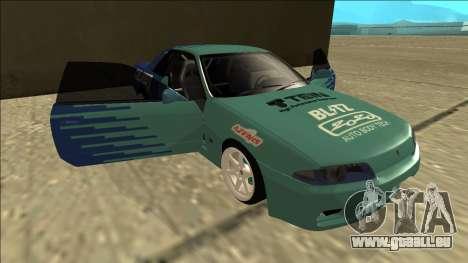 Nissan Skyline R32 Drift Falken für GTA San Andreas Unteransicht