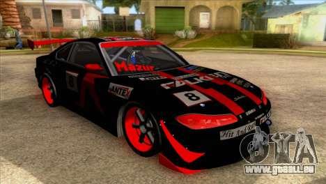 Nissan S15 Drift für GTA San Andreas Rückansicht