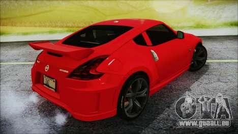 Nissan 370Z Nismo 2010 Angel Beats Itasha für GTA San Andreas linke Ansicht