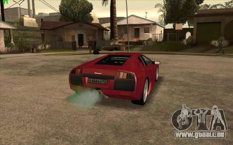Lamborghini Murcielago für GTA San Andreas zurück linke Ansicht