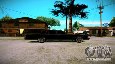 Cadillac Fleetwood Brouhman 1985 für GTA San Andreas zurück linke Ansicht