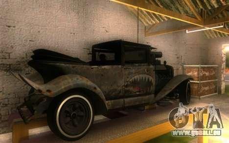 Albany Frenken Stange Rusty Edition für GTA San Andreas zurück linke Ansicht