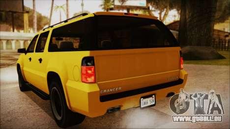 GTA 5 Declasse Granger IVF pour GTA San Andreas vue intérieure