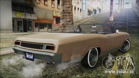 GTA 5 Albany Buccaneer Bobble Version IVF pour GTA San Andreas laissé vue