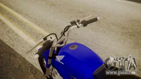 Honda CB1 pour GTA San Andreas vue arrière