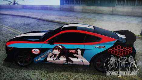 Ford Mustang Shelby GT350R 2016 Kasumigaoka pour GTA San Andreas vue de droite