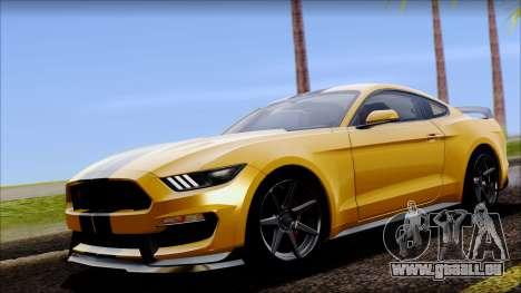 Ford Mustang Shelby GT350R 2016 für GTA San Andreas Rückansicht