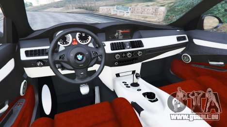 GTA 5 BMW M5 (E60) v1.1 droite vue latérale