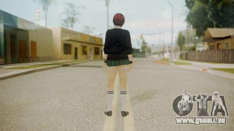 DoA School Grl pour GTA San Andreas troisième écran