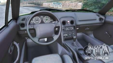 GTA 5 Mazda Miata MX-5 arrière droit vue de côté