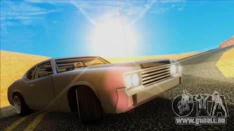 Sabre Race Edition pour GTA San Andreas sur la vue arrière gauche