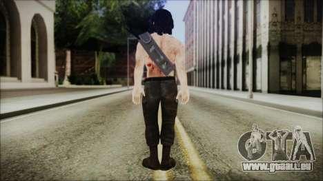 Rambo Skin pour GTA San Andreas troisième écran