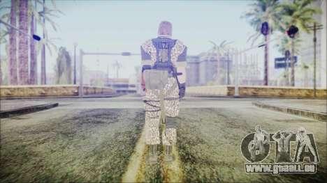 MGSV Phantom Pain Snake Normal Wetwork pour GTA San Andreas troisième écran