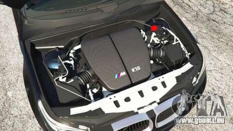 GTA 5 BMW M5 (E60) v1.1 arrière droit vue de côté
