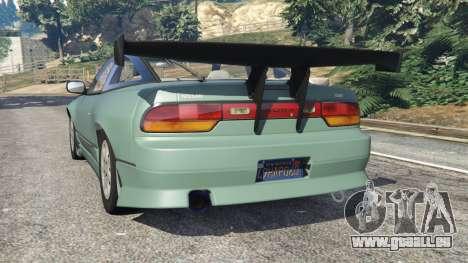 GTA 5 Nissan 240SX arrière vue latérale gauche