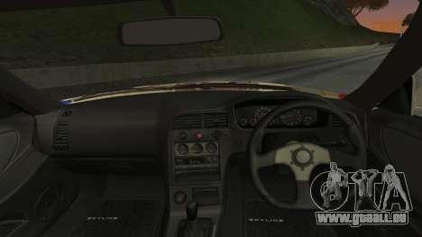 Nissan Skyline R33 Kantai Collection Kongou pour GTA San Andreas sur la vue arrière gauche