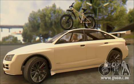 Obey Tailgater Special Tuning pour GTA San Andreas vue intérieure
