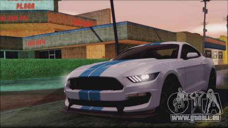 Ford Mustang Shelby GT350R 2016 pour GTA San Andreas vue intérieure
