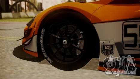 McLaren 650S GT3 2015 für GTA San Andreas zurück linke Ansicht
