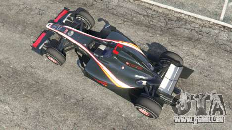 GTA 5 Hispania F110 (HRT F110) v1.1 vue arrière