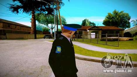 L'employé du Ministère de la Justice v1 pour GTA San Andreas troisième écran