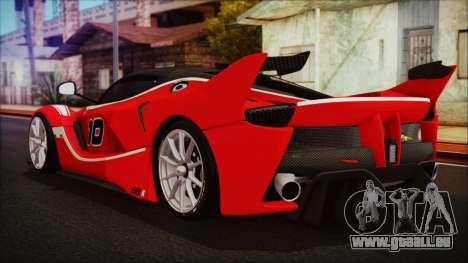 Ferrari FXX K 2016 v1.1 [HQ] pour GTA San Andreas laissé vue
