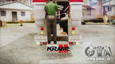 Hataw Motor Works Jeepney für GTA San Andreas Rückansicht