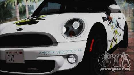 Mini Cooper Clubman 2011 Itasha pour GTA San Andreas vue intérieure