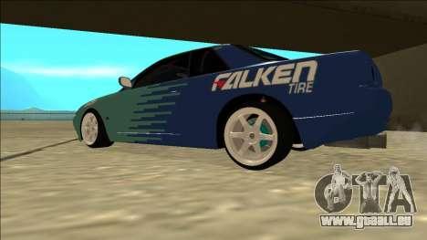 Nissan Skyline R32 Drift Falken für GTA San Andreas zurück linke Ansicht
