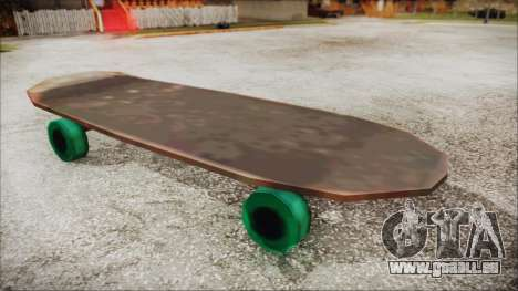 Giant Skateboard für GTA San Andreas zurück linke Ansicht