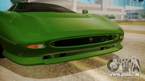 Jaguar XJ220 1992 FIV АПП pour GTA San Andreas vue arrière