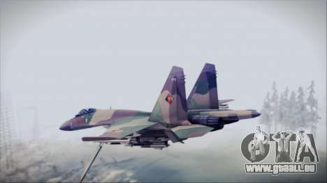 Sukhoi SU-35S East German Air Force für GTA San Andreas linke Ansicht
