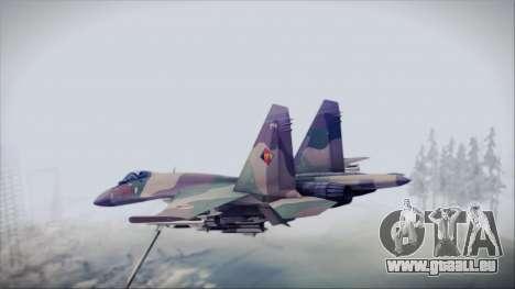 Sukhoi SU-35S East German Air Force pour GTA San Andreas laissé vue