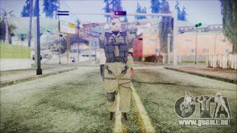 MGSV Phantom Pain Snake Normal Olive Drab für GTA San Andreas zweiten Screenshot