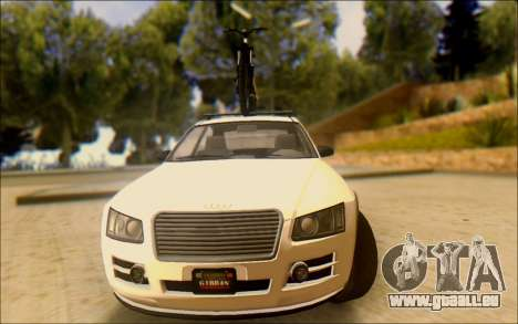 Obey Tailgater Special Tuning pour GTA San Andreas vue arrière