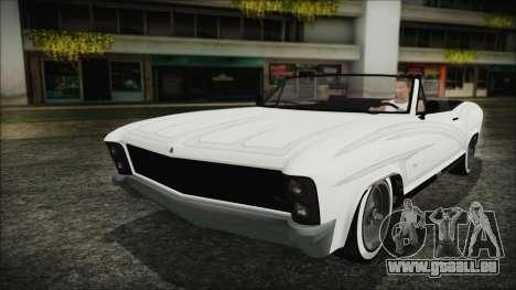 GTA 5 Albany Buccaneer Custom pour GTA San Andreas vue de droite
