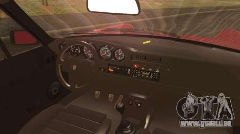 Porsche 911 Turbo 3.3 Coupe (930) 1986 pour GTA San Andreas sur la vue arrière gauche