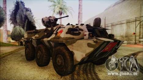 Norinco Type 92 from Mercenaries 2 pour GTA San Andreas vue de droite