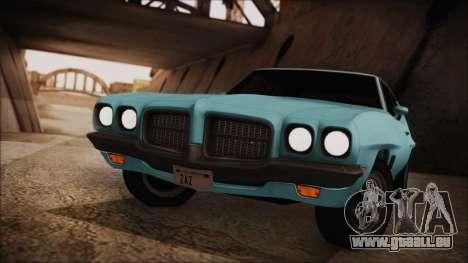 Pontiac Lemans Hardtop Coupe 1971 pour GTA San Andreas sur la vue arrière gauche