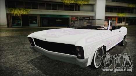GTA 5 Albany Buccaneer Custom für GTA San Andreas Rückansicht