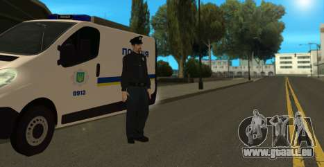 La Police Nationale D'Ukraine pour GTA San Andreas quatrième écran