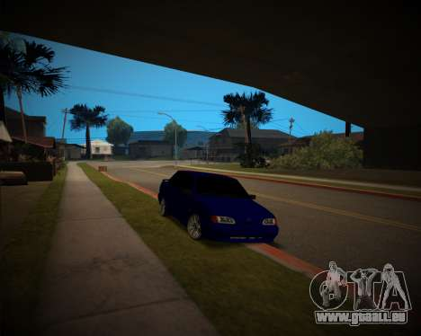 VAZ-2115 für GTA San Andreas Rückansicht