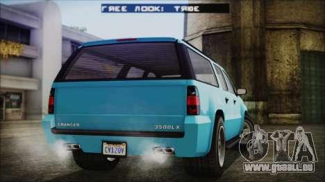 GTA 5 Declasse Granger Civilian pour GTA San Andreas laissé vue