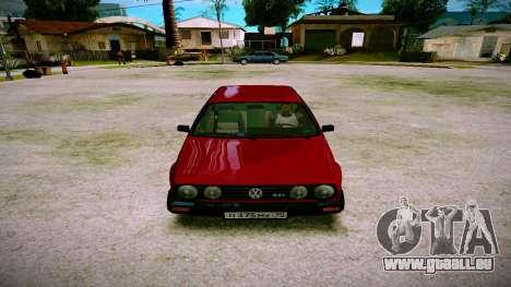 Volkswagen Golf Mk2 pour GTA San Andreas vue arrière
