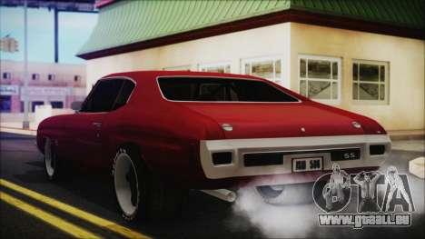 Chevrolet Chevelle Drag Car für GTA San Andreas linke Ansicht