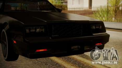 GTA 5 Faction Stock DLC LowRider pour GTA San Andreas vue de côté