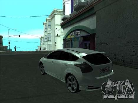 Ford Focus ST à fanons pour GTA San Andreas sur la vue arrière gauche