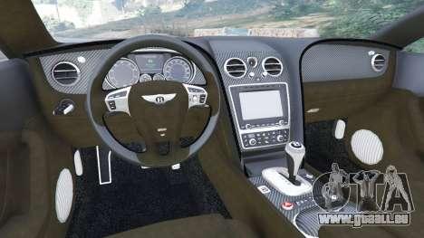 GTA 5 Bentley Continental GT 2012 v1.1 arrière droit vue de côté