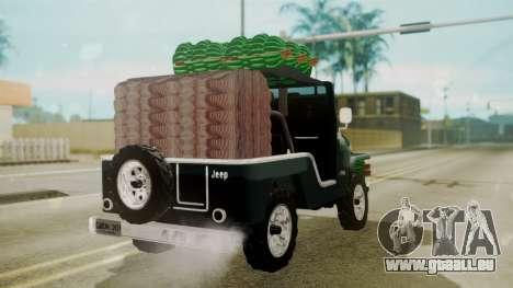 Jeep Willys Cafetero pour GTA San Andreas laissé vue
